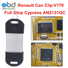 Best Price For Renault Can Clip V170 Full Chip PCB Gold Edge Can Clip Diagnostic Tool Scanner CYPRESS AN2131QC Relay Reprog V151