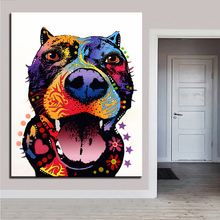 Large size Print Oil Painting Wall painting Bark Don't Bite Pop art Decorative Wall Art Picture For Living Room paintng No Frame