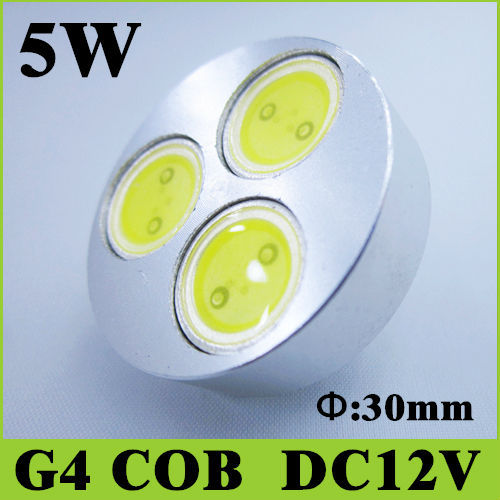 5pcs 5w G4 cob DC 12v LED Light Source Cool White Warm White For Droplight Spotlight indoor lighting<br><br>Aliexpress