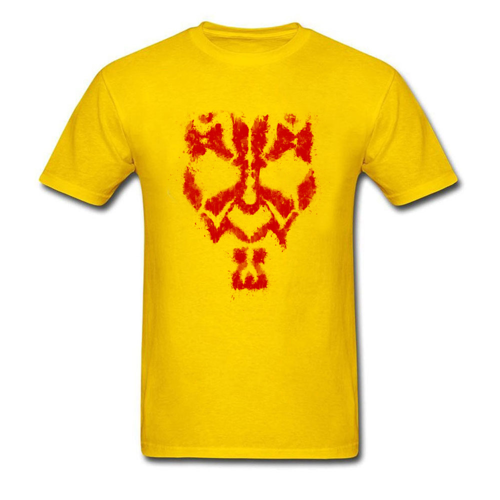 Round Collar Star Wars Darth Maul Grunge 100% Cotton Fabric Men T-shirts Summer Tops Tees 2018 Popular T-Shirt Short Sleeve Darth Maul Grunge yellow