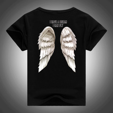 2017 Mohekann Boys T shirt Back Wings Club Punk Harajuku Style T-shirts Summer 3D Print Wings Tops Casual Tees Camiseta Kids Tee