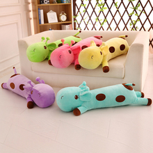 Super Cute Giraffe Plush Toys Soft Sika Deer Pillow Dolls Kawaii Stuffed Lovely Animals Cushion Toy for Kids Baby