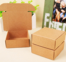 9.5*9.5*3CM 250pcs Large Black Kraft paper soap Jewelry packaging box handmade Soap Aircraft box cardboard gift box wholesale