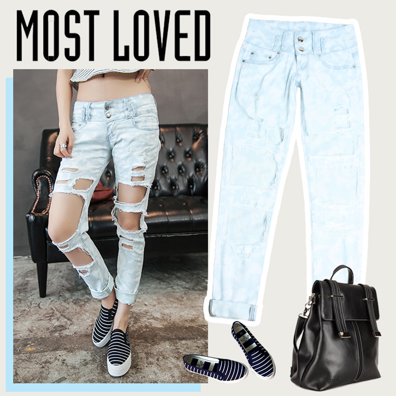 2017 Hot Summer Holes Jeans Woman Jean Pants Woman Fashion Sexy Ripped Jeans for Women American Apparel Jeans Femme Casual PantОдежда и ак�е��уары<br><br><br>Aliexpress