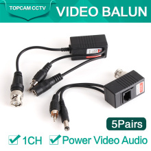 5Pairs CCTV CAT5/5E/6 Cable Balun RJ45 Video Power Balun Video Audio Power For HD AHD,HDCVI HDTVI 720P CCTV Camera