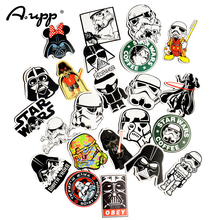 Star Wars 25 pcs Storm Trooper Cartoon PVC Safe Toys Cool Stickers For Kids Children Luggage Notebook Laptop Sticker Car-Styling