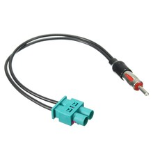 New Radio Adaptor Antenna Audio Cable Male Dual Fakra - Din Aerial For Audi/VW/Volkswagen(China)