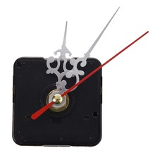 Clock Movement Mechanism with Silver Hour Minute Red Second Hand DIY Tools Kit(China)