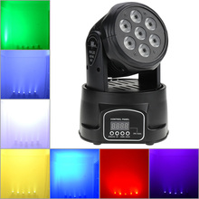 led rgbw mini Moving Head Light Disco Party Night Club Pub Bar KTV 7x12W moving Wash light-in Stage Lighting(China)