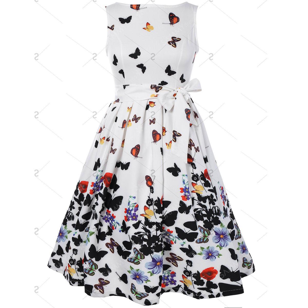 Butterfly Summer Dress (Us 4-14)