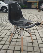 Glossy Surface Carbon Fiber Chair With Wooden Leg Fibre Universal Fitment Furniture Accessories Car Styling