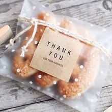 100pcs/lot New Self Adhesive THANK YOU style Birthday Wedding Gift Soap Packaging Bags Candy and Cookie Baking Package Bag