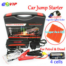 Mini Portable Car Jump Starter Emergency Start 12V Petrol/Diesel Engine Multi-Function 4 USB power bank Battery Charger(China)