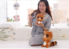lovely brown raccoon plush toy soft pillow toy baby toy birthday gift b9835(China)