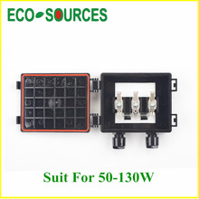 5 piece solar junction box for 50W -130W solar panel with 2 higth grade diodes, for PV solar panel , solar panel system *(China)