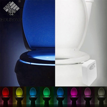 1PC Toilet Seat LED Light Human Motion Sensor Automatic LED Lamp Sensitive Motion Activated Bowl Light Bathroom Accessory