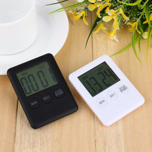 2 Colors Square Large LCD Digital Kitchen Timer Cooking Timer Alarm Clock Magnet Despertador Digital Table Clock Temporizador(Hong Kong)