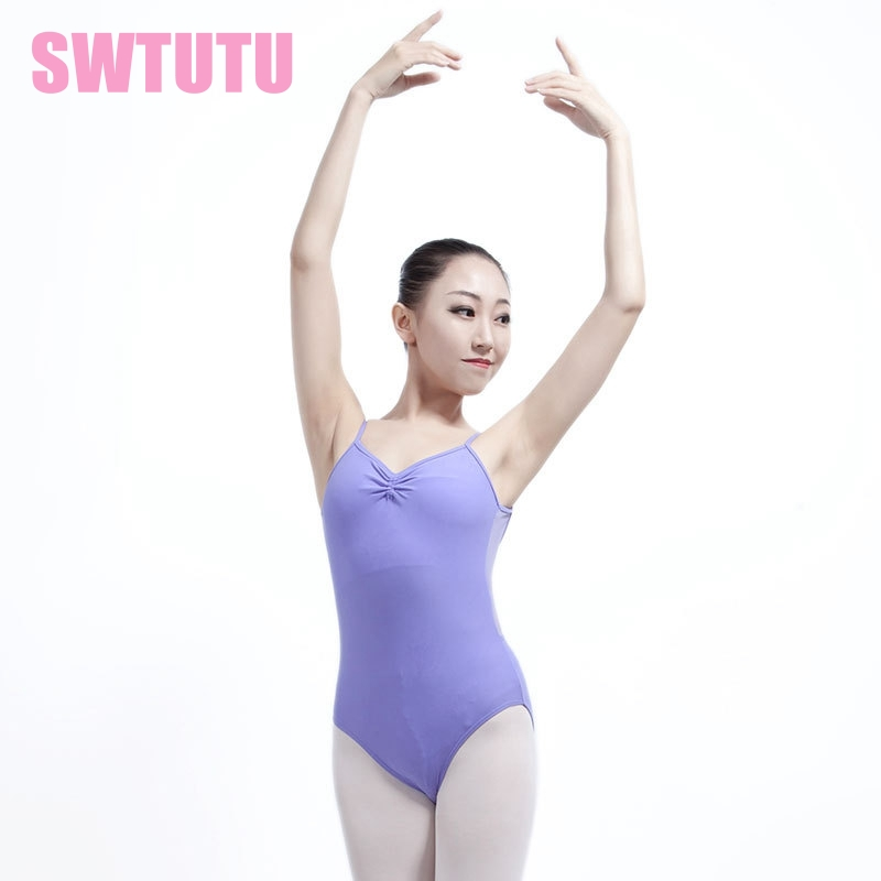 Sexy women cami ballet women leotard with mesh adult training dancewear ballet dance costume leotards for girls ML6014