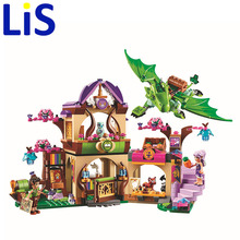 (Lis)Elves Secret Place parenting activity education model building blocks of the new year girls and children's toys compatible