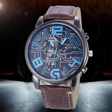Best Selling Fashion Luxury Men's clock Leather Strap Analog Quartz Sports Wrist Watch Watches Sporting Style relogio masculino