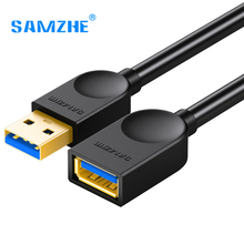 SAMZHE USB3.0 Extension AM/AF A Male to A Female Cable 0.5m/1m/1.5m/2m/3m Data Sync Transfer Extender USB Extension Cord Cable(China)