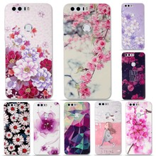 for Huawei Honor 8 TPU Case Cover 3D Relief Pattern Back Case for Huawei Honor 8 Phone Cases Soft Silicon Cover Bag Honor 8(China)