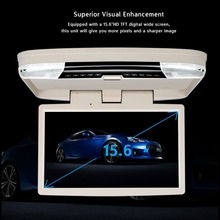 15.6 inch Roof Mount DVD Player with USB SD MP5 Player IR FM Transmitter,HDMI,Wireless games