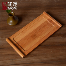 [GRANDNESS] Natural Bamboo Tea Tray Bamboo Puer Tea Board Table Bamboo Gongfu Tea Tray 27.5x13x1.7cm(China)