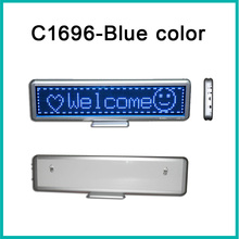 16x96Matrix Led desktop display blue color LED dot matrix signs indoor LED moving message display led table screen indoor(China)