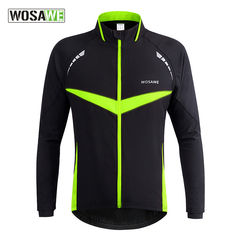 Wosawe Winter Warm Cycling Jackets Outdoor Sports Waterproof Windproof Breathable Thermal Fleece Sports Jerseys Roupa Ciclismo<br>