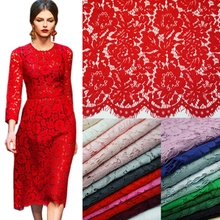 1.5 * 1.5 m Lash Embroidery Lace Fabrics Cotton Cord French Lace Fabric Guipure Nigeria African Lace For Wedding Dress(China)