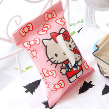 Hello Kitty Home&Car Tissue Box Case Holder Removable Paper Napkin Bags Creative Home Decor Tissue Boxes Container Pouch