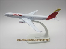 16cm Metal Plane Model Spain Air IBERIA A330 Airways Aircraft Airbus 330 Airlines Airplane Model w Stand Gift(China)