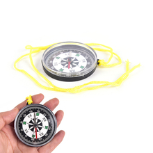 Outdoor Hiking camping plastic survival Handheld mini Compass With Line Lightweight(China)