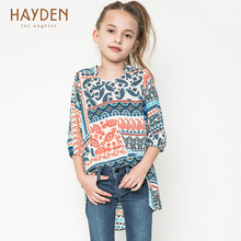 HAYDEN Bohemia teenage girl summer dress 7 8 9 10 years fancy sundress children fashion clothing girls kids clothes party frocks
