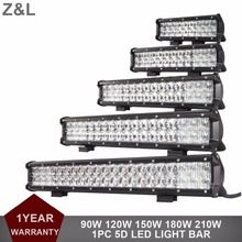 90W 120W 150W 180W 210W COMBO 12V 24V LED LIGHT BAR CAR 4X4 4WD SUV TRUCK WAGON PICKUP VAN CAMPER OFFROAD DRIVING HEADLIGHT LAMP(China)