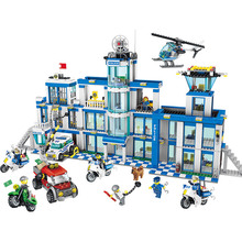 1397pcs Large Building Blocks Sets City Police Station Anti-Terrorism Action Compatible LegoINGLYS City Police Toys for Children