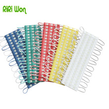 RiRi won 20 pcs 5730 LED Module 12V Injection Molding Module clear lens waterproof IP65 red green blue Yellow Pink Warm white