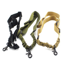 Tactical 1 Point Adjustable Bungee Rifle Gun Sling Strap System Tactical Gun Sling Airsoft Hunting Sling For M4 M16 Rifle Shotgu