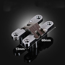 Folding door hinges 13x60mm Invisible Concealed Hidden hinge Stainless Steel 2pcs