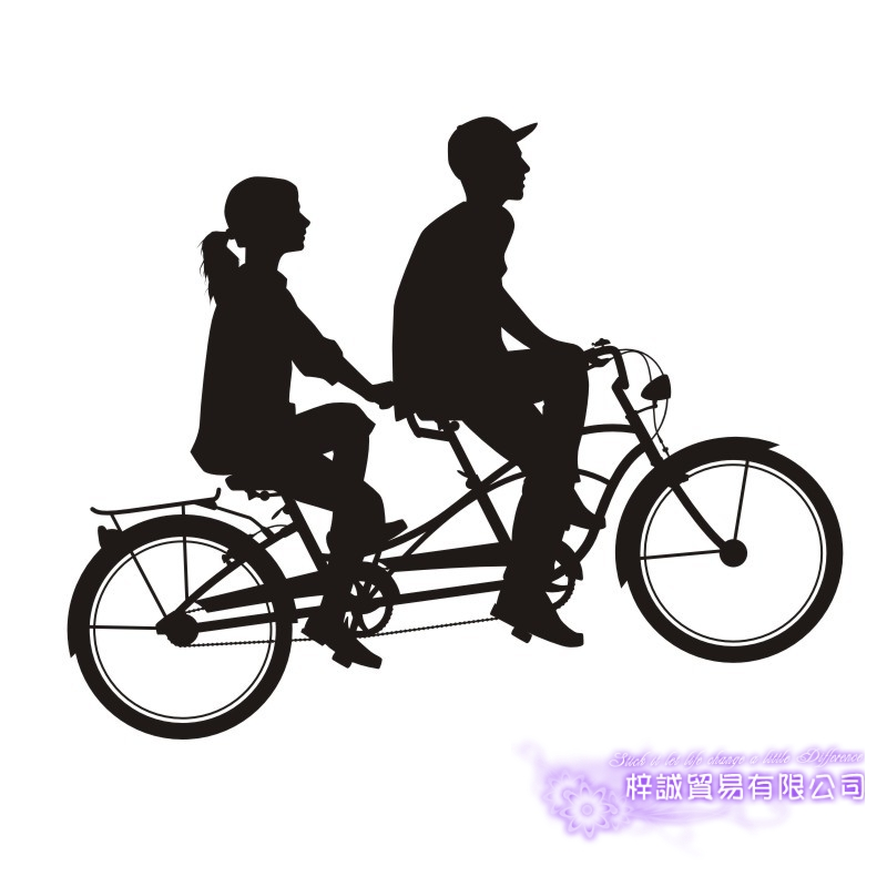 DCTAL Lovers Room Bike Sticker Bicycle Car Decal Posters Vinyl Wall Decals Pegatina Decor Mural