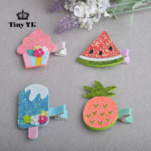 1 piece Lovely Girls ice cream hair clips hair accessories Girl Baby Kids Hair Clips Colorful Children Hairpin(China)
