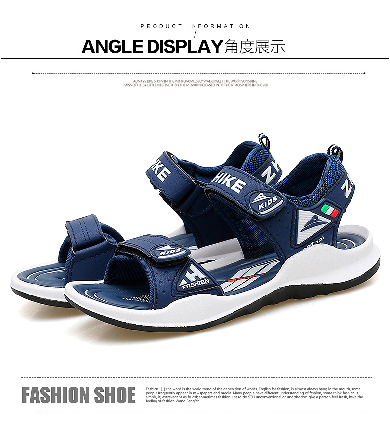 Children's Shoes Summer Open Toe Boys Sandals Sports 11 Non-slip 12 Primary School Students 15 Years Old Children's Beach Shoes 17 Online shopping Bangladesh