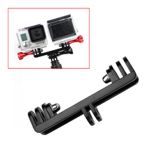 Gopro Mount to Dual Mount Converter Adapter + Screw for 2 Gopro Cameras / Gopro and LED light same time using(China)
