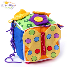 Funny 1pc lala baby pacify square rattles learn clothing zipper cute early development cognitive infant newborn gift toy