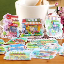 15pcs Creative Cute Self-made  Flower shop meet  Scrapbooking Stickers /Decorative Sticker /DIY Craft Photo Albums/trunk sticker