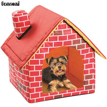Portable Brick Pet Dog House Warm And Cozy Cat Bed(China)