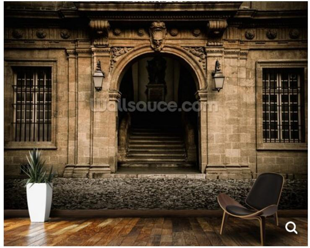 Custom photo wallpaper,Stone Facade and Doorway fresco for living room sofa corridor backdrop decorative papel de parede<br>