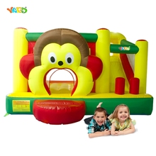 YARD Monkey Bounce House Inflatable Jumper with Basketball Hoop Include Blower Special Offer for Asia