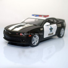 (10pcs/lot) Wholesale Brand New KT 1/38 Scale USA Chevrolet Camaro Police Edition Diecast Metal Pull Back Car Model Toy